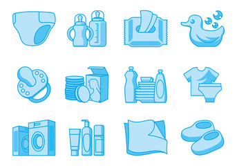 Icons for newborn  and mother supplies