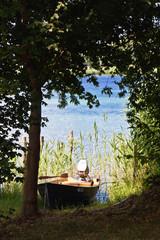 Boot am Bodensee auf der Insel Reichenau