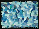Sky blue texture of torn paper