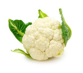 fresh cauliflower isolated on a white background