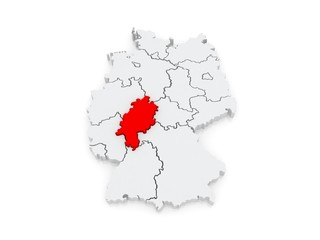 Map of Hesse. Germany.