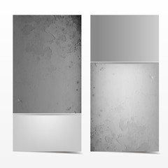 Grey and white grunge card template