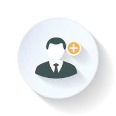 Append contact flat icon