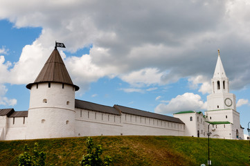 towers and the wall of the Kazan Kremlin, Tatarstan, Russia