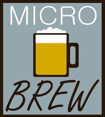 micro brew design with beer mug and froth