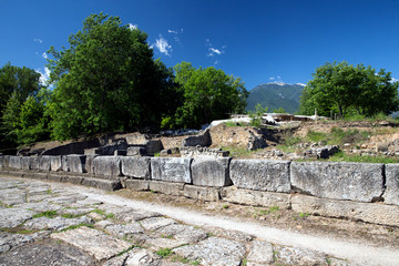 ruins in Dion, Greece.