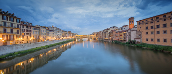 Ponte Vecchio from St Trinity bridge, Florence