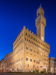 The Old Palace at night in Florence