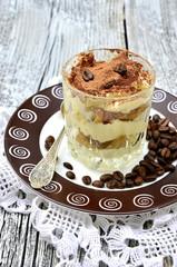 Tiramisu,traditional italian dessert.t