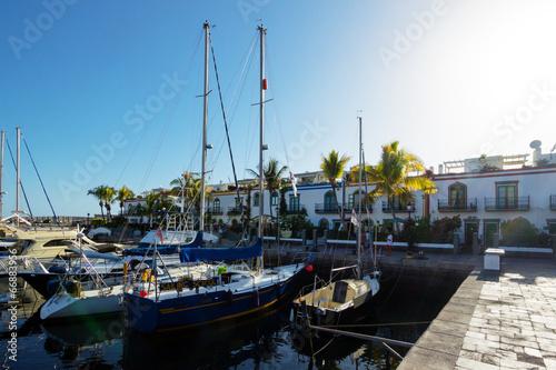 canvas print picture Hafen von Puerto Mogan – Gran Canaria