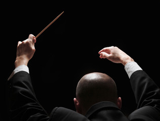 Concert conductor with a baton