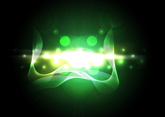 Abstract green lighting vector background