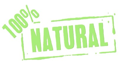 Green Rubber Stamp 100 Percent Natural