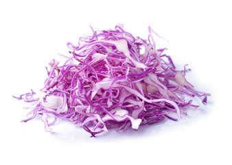 sliced red cabbage  on a white