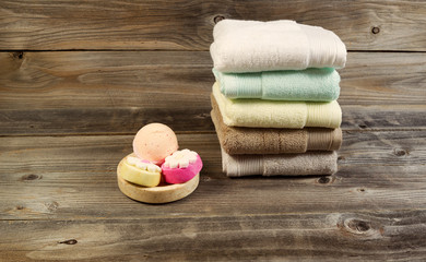 Spa Cleanse Accessories on Weathered wood