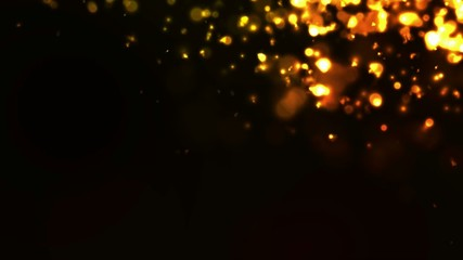 Gold Particles Bokeh Loop Motion