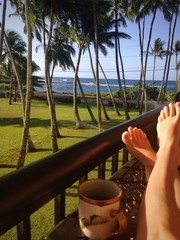 Love my coffee with a beach view!