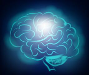 Light of the human brain. Abstract illustration