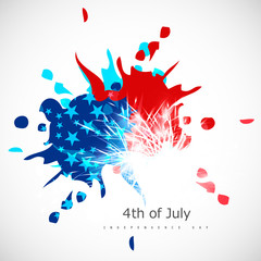 American Independence Day grungy background in American Flag col