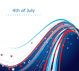 4th of july american independence day flag creative wire celebra