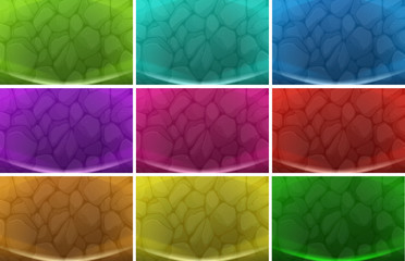 Sets of backgrounds