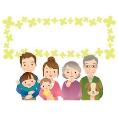 家族 三世代 コピースペース