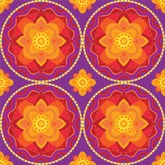 Indian mandala ornamental pattern
