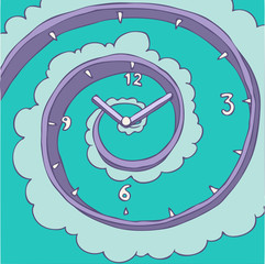 watch (outgoing time) vector illustration, hand drawn
