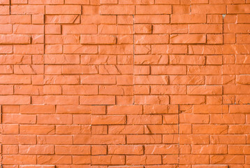 Orange Rough Brick Wall Background/ Texture