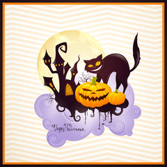 Vector Illustration of a Halloween Design