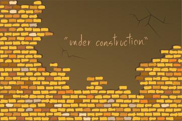 image of yellow brick wall