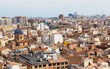 View of the historical center of Valencia
