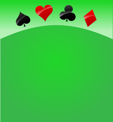 Vector casino cards background