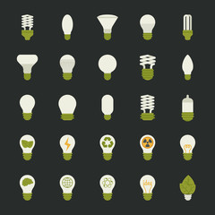 Lamp and light bulb concept , icon set