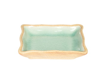 Thailand Celadon ceramic dishes on white background