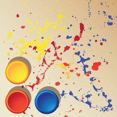 vector top view of primary colors. background concept