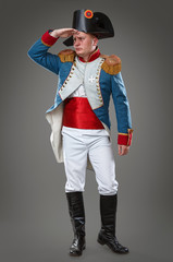 Actor dressed as Napoleon