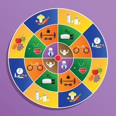 food symbol on target, health concept