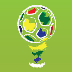vector brazil football