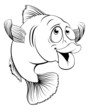 Cod fish cartoon