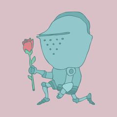 Cute  Knight. Cartoon knight. vector illustration hand-drawing