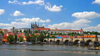 Prague Castle, Czech republic. Timelapse