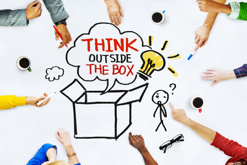 Hands on Whiteboard with Think Outside the Box Concepts