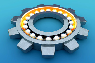 Steel ball bearing. 3d illustration