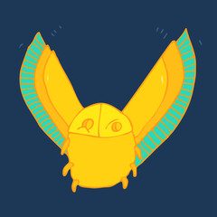 Scarab vector illustration, hand-drawing