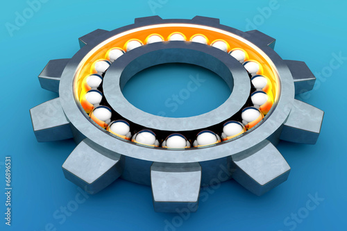 Leinwandbild Motiv Steel ball bearing. 3d illustration
