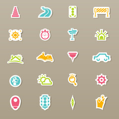 transportation icons and map icons