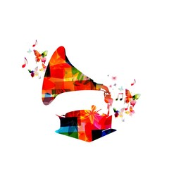 Colorful gramophone design