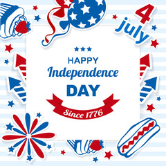 4th july stickers background