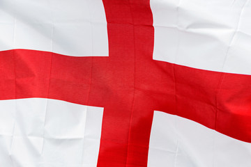 England flag in the wind in sunlight